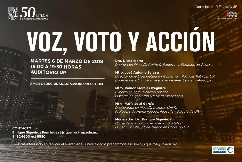 Voz2c Voto y Acción 2018 Postal Lanzamiento